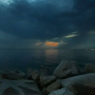 #sea#sunset#clouds #jönavihar#stormiscoming #nofilter#spotrevealed #piran