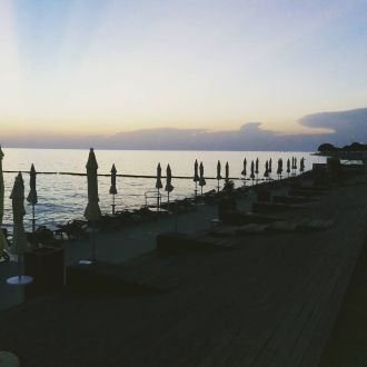 Sunset @ Grand hotel Bernardin on the beach a la carte #spotrevealed #portoroz
