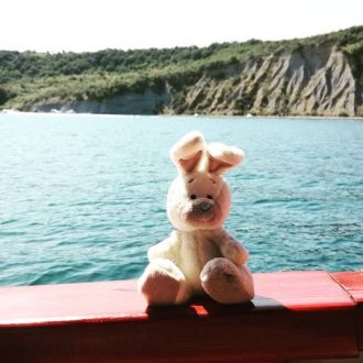 I nearly fell off that boat, but it was totally worth it. 😂😋😉